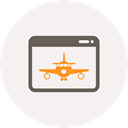 window, Browser, landing, airplane, internet, Page WhiteSmoke icon