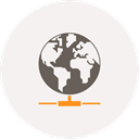 share, Hosting, network, world, internet, globe, earth WhiteSmoke icon