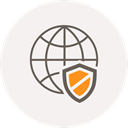 safety, security, world, shield, internet, Browser, globe Icon