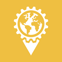 world, Pointer, earth, globe, settings, Map, Gear Icon