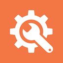 preferences, tools, Gear, Options, settings, Wrench Coral icon