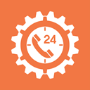 Gear, technical support, time, Service, support, Clock Coral icon