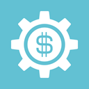 Options, Money, settings, Gear, sign, preferences, Dollar MediumTurquoise icon
