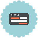 payment, Cheque, Check, Blank, payment methode, Bill LightBlue icon