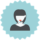 customer support, support, woman, Girl, Headset, Female, consultant LightBlue icon
