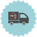 vehicle, logistics, truck, Shipping, transport, Delivery, transportation LightBlue icon