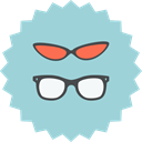 fashion, Accessoires, woman, Female, sunglasses, Man, men LightBlue icon
