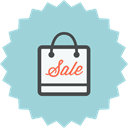 Bag, marketing, ecommerce, sale, shopping, online shopping LightBlue icon