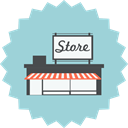 Marketplace, shopping, Building, Shop, ecommerce, store, house market LightBlue icon