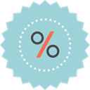 sign, percentage, sale, Discount, ecommerce LightBlue icon