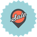 ecommerce, sale, map pointer, pin, location, advertising, Pointer LightBlue icon