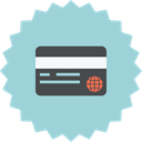 ecommerce, sale, credit, card, bank card, Money, payment methode LightBlue icon