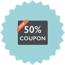 shopping, Coupon, Price, Discount, sale, ecommerce LightBlue icon