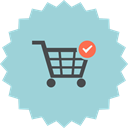 shopping cart, ecommerce, Checked, Cart, online shopping, Added Icon