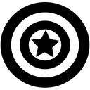 Marvel, Captain america, Avangers Black icon