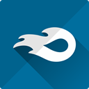 virtual, online, File, Mediafire, storage Teal icon