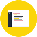 document, Data, editor, File, Text Gold icon
