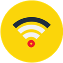 wireless, router, Wifi, Connection, Mobile Gold icon