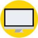 Computer, Desktop, Imac, screen, mac Gold icon
