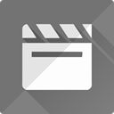 video, docs, movie, media, play, film, google DimGray icon
