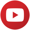 Social, youtube, play, Logo Firebrick icon