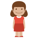 Child, kid, Girl, red, Female, Avatar, person Black icon