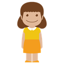 Girl, Child, person, kid, yellow, Female, Avatar Black icon