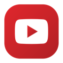 youtube, play, Social, video, Logo Firebrick icon