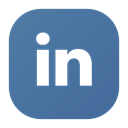 Social, linked, Linkedin, In, Logo SteelBlue icon