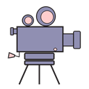 video, Camera, Movies, Cam, camcorder Black icon