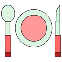 Restaurant, Cooking, Eat, meal, food, dinner Black icon