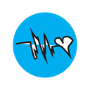 Cardio, doctor, ekg, music, Heart, heartbeat, love DeepSkyBlue icon