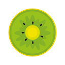 food, Snow, fruts, Kiwi, Cream, breakfast, Ice YellowGreen icon