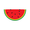 Eating, breakfast, Fruit, watermelon, food, Ice, Cream Black icon