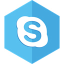 Chat, Communication, Skype, Social CornflowerBlue icon