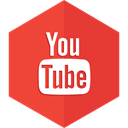 play, social media, media, youtube, videos Crimson icon