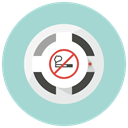 no smoking, smoke alarm, fire alarm, Alarm, smoke detector, Attention, detector LightBlue icon