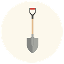 Gear, repair, shovel, equipment, work, tool, dig SeaShell icon