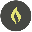 fire, hot, light, Flame, Burn, Heat, campfire DarkSlateGray icon