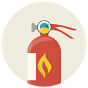Flame, Safe, Fire extinguisher, Extinguisher, fire, safety, Protection Beige icon