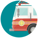Firemen, fire, Car, firefighters, transport, fire truck, fire fighters DarkCyan icon