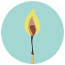 fire, Burn, Heat, campfire, Flame, hot, match LightBlue icon