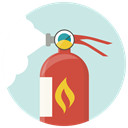 fire foam, Flame, Extinguisher, fire, Fire extinguisher, fire extinguishing, safety Gainsboro icon