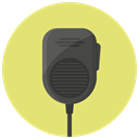 Communication, Device, police radio, walkie talkie, walkie, radio, talkie Khaki icon