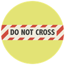 do not cross, closed road, Block, delimitation, no further path, blockage, no more road Khaki icon