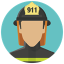 Fireman, fire man, user, Avatar, Account, firefighter, smoke jumper Icon