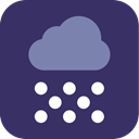 Snow, weather, snowing DarkSlateGray icon