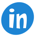 Linkedin, Social DodgerBlue icon