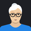 Female, Avatar, grandmother, woman, mature, person, old Black icon