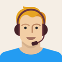 male, Headset, young, Man, person, support, Avatar Linen icon